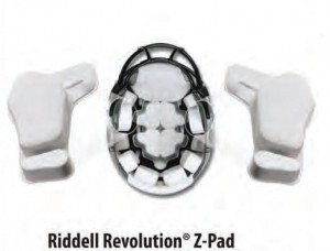 "Riddell Revolution Z-Pads 1"" Left"